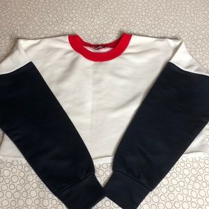 Other - Cropped Color Block Sweater
